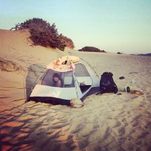 Nocleh na malé poušti Costa Verde